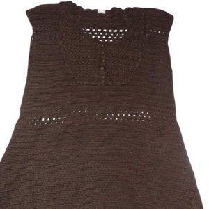 Zara Vintage Short  Mini Brown Knit Dress Girl 7-8